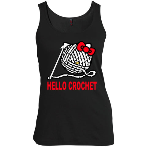 T-Shirts - Hello Crochet   Scoop Neck Tank Top