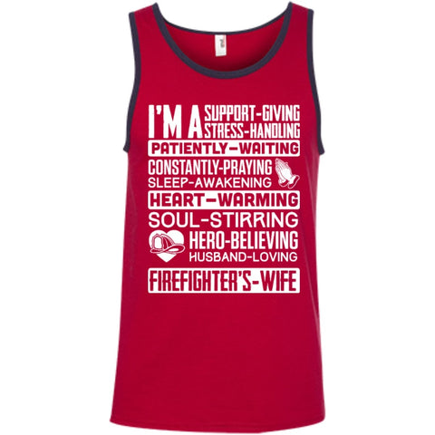T-Shirts - I'm A Firefighter's Wife  Ringspun Cotton Tank Top
