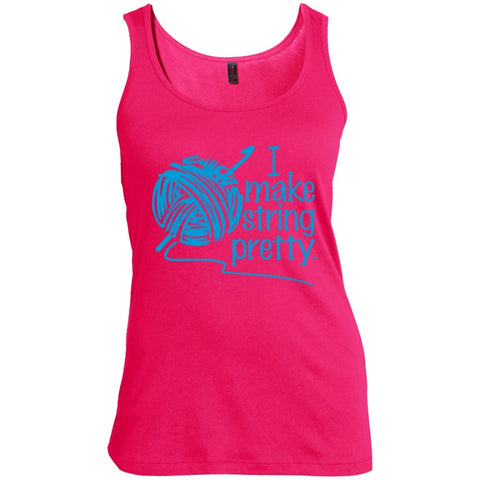 T-Shirts - I Make String Pretty  Scoop Neck Tank Top