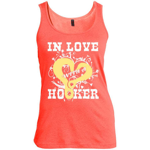 T-Shirts - In Love With Hooker  Scoop Neck Tank Top