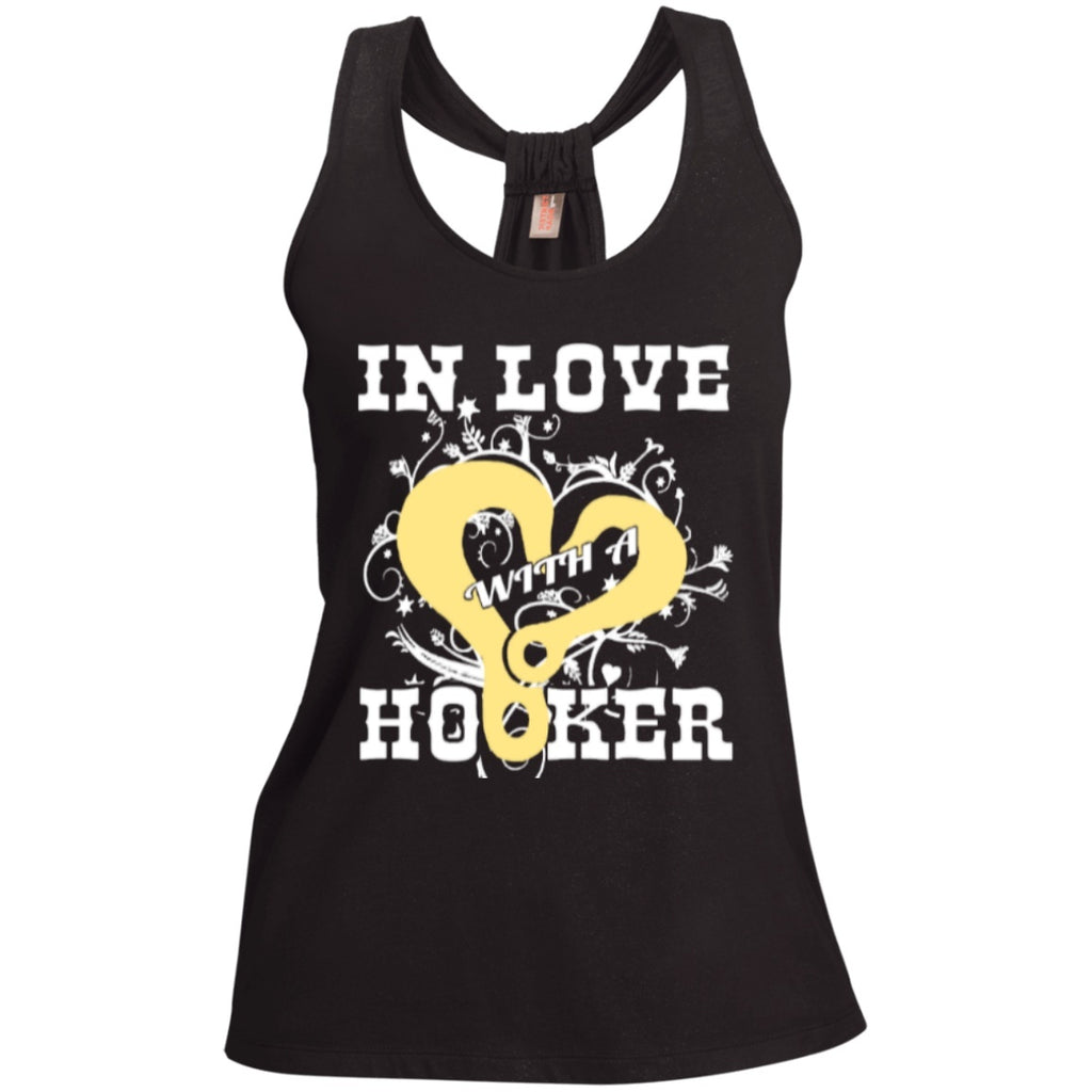 T-Shirts - In Love With Hooker  Shimmer Loop Back Tank
