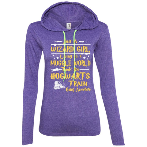 T-Shirts - Just A Wizard Girl Living   LS T-Shirt Hoodie