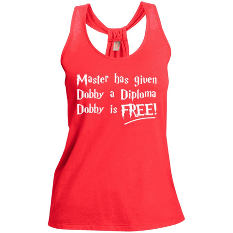 T-Shirts - Master Has Given Dobby A Diploma Dobby Is Free   Shimmer Loop Back Tank