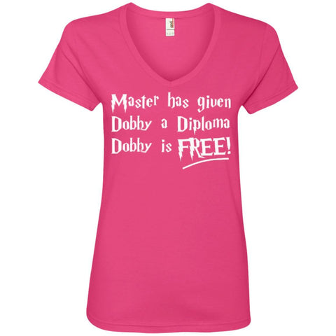 T-Shirts - Master Has Given Dobby A Diploma Dobby   Ladies ' V-Neck Tee