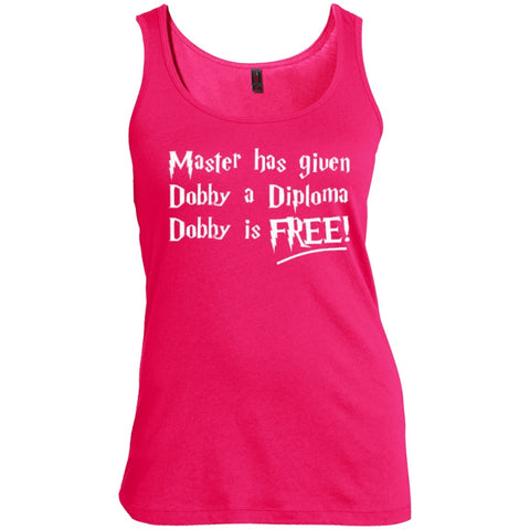 T-Shirts - Master Has Given Dobby A Diploma Dobby   Woman  Scoop Neck Tank Top