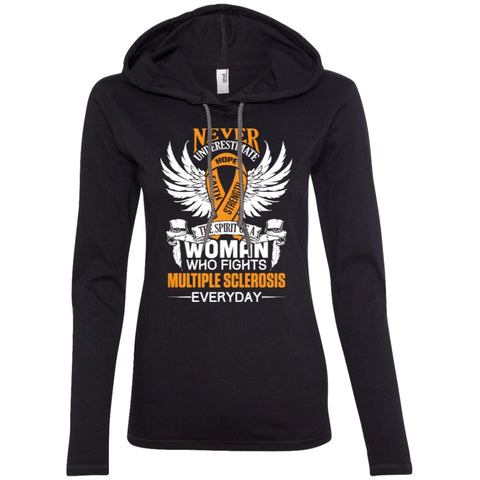 T-Shirts - Never Underestimate The Spirit Of Woman Who Fights Multiple Sclerosis  T-Shirt Hoodie