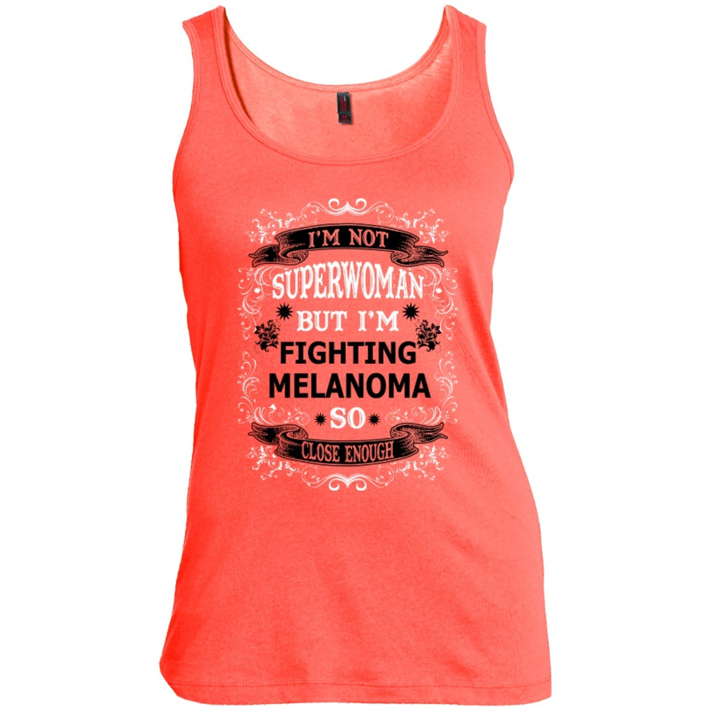 T-Shirts - Not Superwoman But Fighting Melanoma   Scoop Neck Tank Top