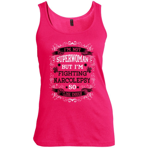T-Shirts - Not Superwoman But Fighting Narcolepsy   Scoop Neck Tank Top