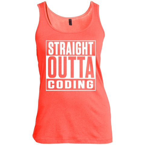 T-Shirts - Straight Outta Coding  Women  Scoop Neck Tank Top