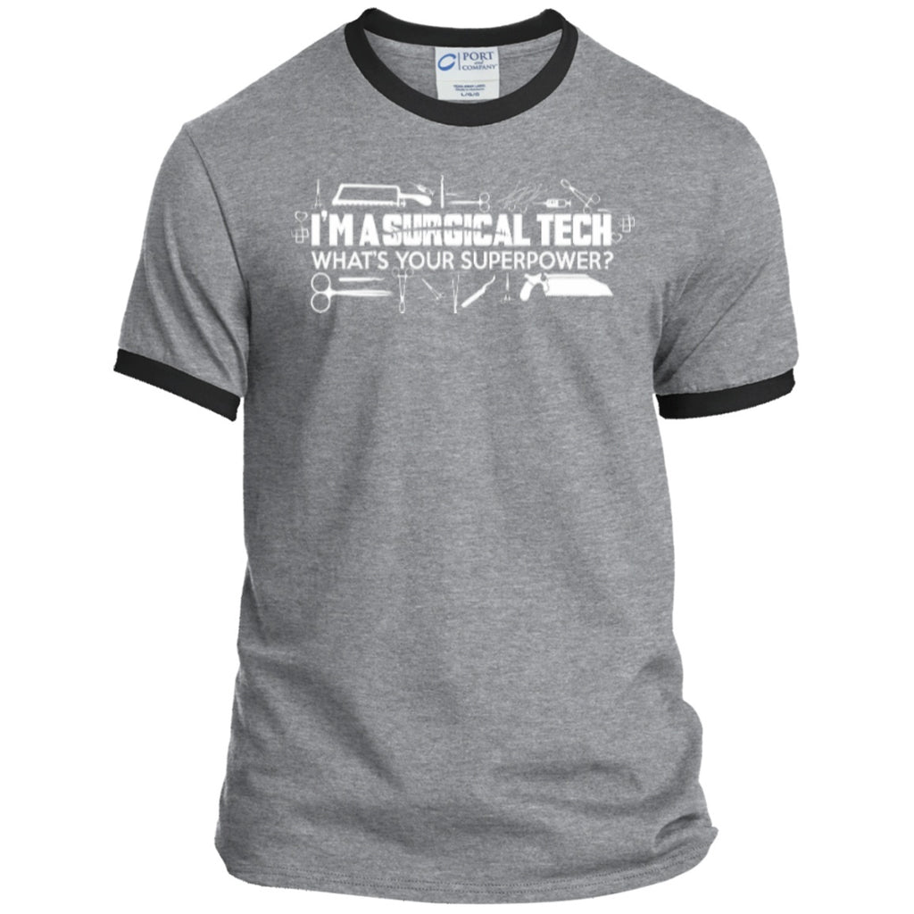 T-Shirts - Surgical Tech Superpower  Ringer Tee