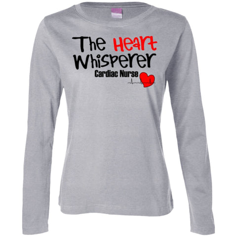 T-Shirts - The Heart Whisperer Cardiac Nurse  Long Sleeve Cotton TShirt