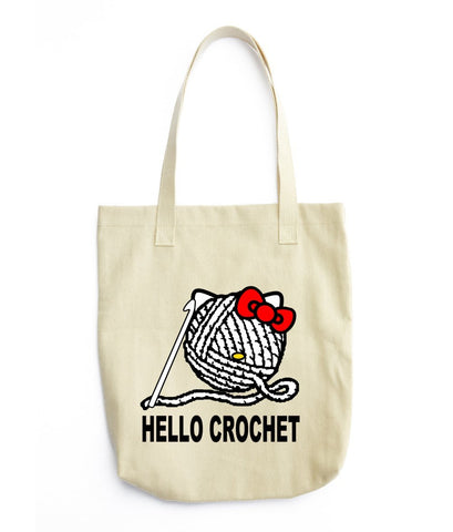 Hello Crochet  Tote Bag
