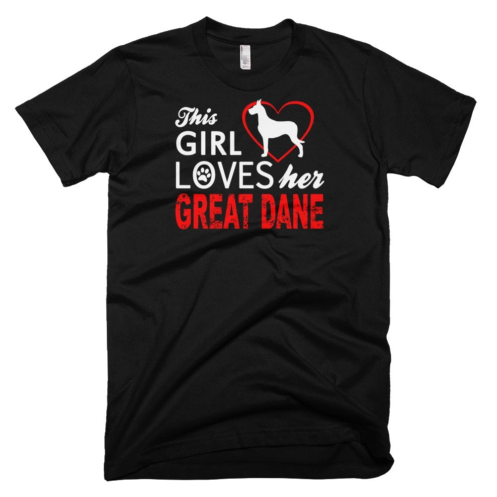 Tshirt , Hoodies - This Girl Loves Her Great Dane