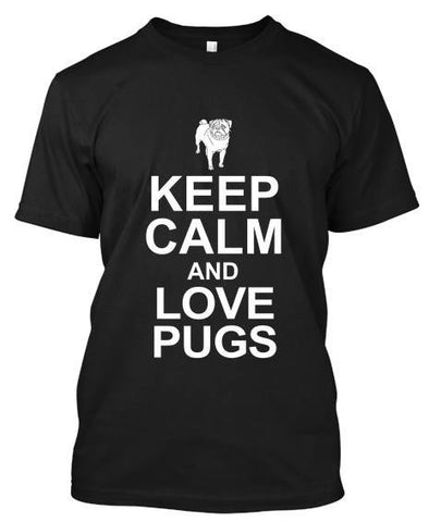 Tshirt - Keep Calm And Love Pug