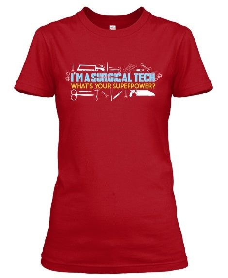 Surgical tech superpower teeholic for Pitbull mom af shirt