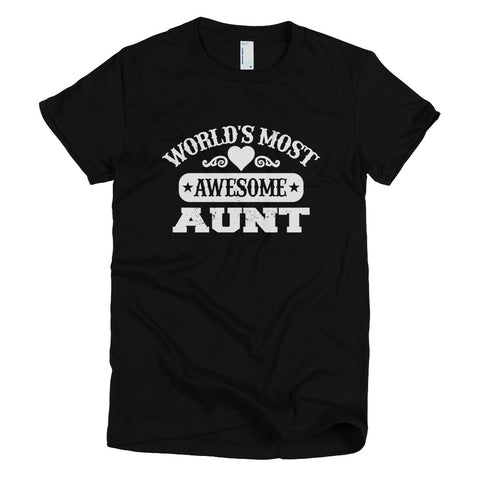 Tshirt - World's Most Awesome Aunt