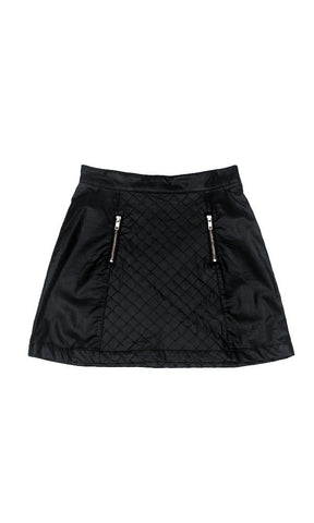 Minkpink Raunchy Quilted Pu Mini Skirt Black - Fuel Clothing  - 1