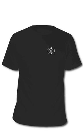 4171 Men's Tee Black/Silver - Fuel Clothing - 1
