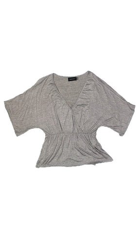 Minkpink Basics Jersey Wrap Tee Grey - Fuel Clothing