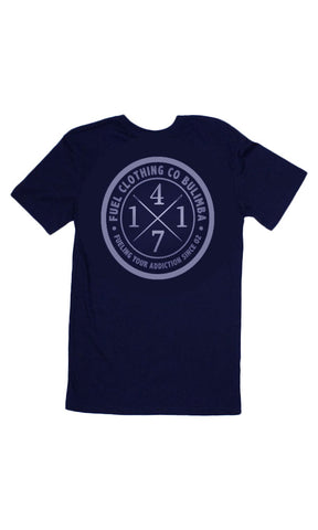 4171 Tee Navy/Silver Youth