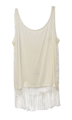 Anise Macrame Top