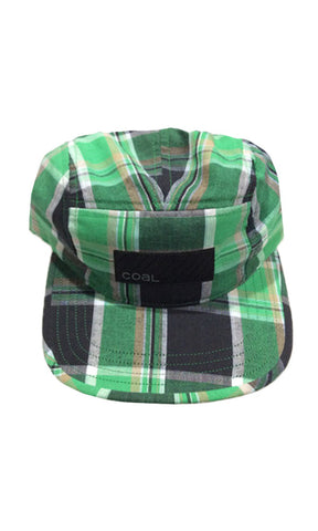 Coal Headwear The Richmond 5 Panel Green Plaid - Fuel Clothing