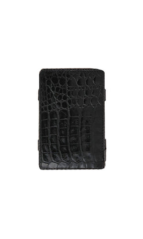 Buckle Magic Wallet Black Croc - Fuel Clothing