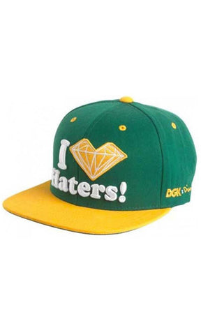 DGK x Diamond Snapback Grn/Yel - Fuel Clothing