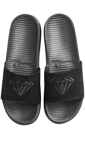 Diamond Supply Fairfax Slide Black Suede