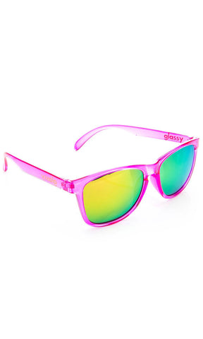 Glassy Sunnies Deric Trans Pink - Fuel Clothing
