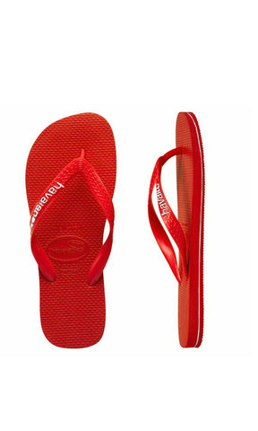 Havaianas Kids Rubber Logo Red/White - Fuel Clothing