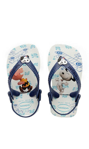 Havaianas Baby Print Snoopy White/Blue - Fuel Clothing