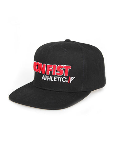 Iron Fist Athletic Snapback Black/Red - Fuel Clothing