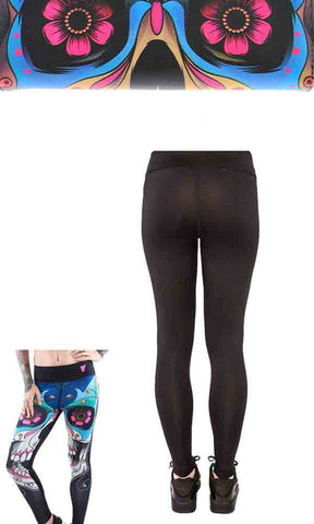 Iron Fist Athletic Smile Now Leggings - Candy Skull