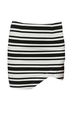 Jorge  Light Night Skirt Black/White - Fuel Clothing
