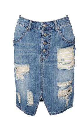 Minkpink Must Have Denim Skirt - Fuel Clothing  - 1
