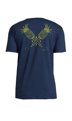 4171 fuel pineapples women's tee navy/gold