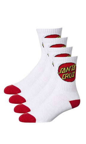 Santa Cruz Youth Socks 4 Pk