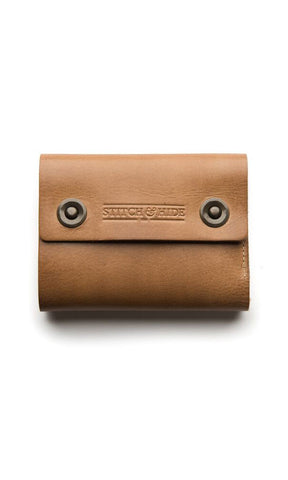 Stitch & Hide 2 Button Wallet Natural