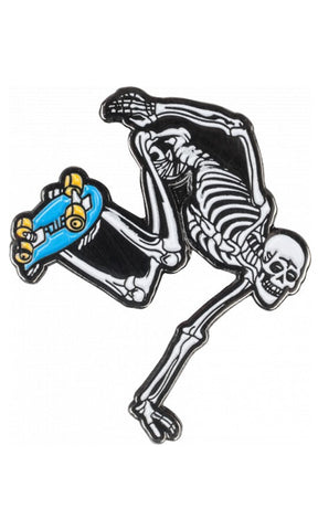 Powell Peralta Skate Skeleton Lapel Pin