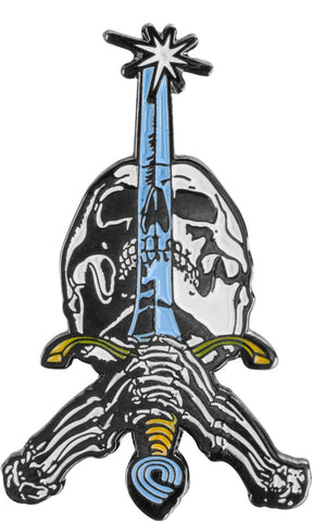 Powell PeraltaSkull & Sword Lapel Pin