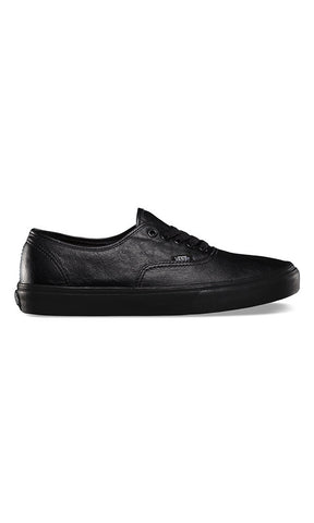 Vans Authentic Leather Youth Black/Black - Fuel Clothing