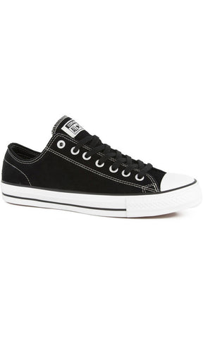 Converse Chuck Taylor Pro Skate Low Suede Black/White - Fuel Clothing  - 1