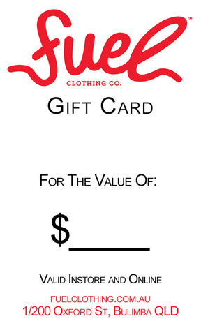 Fuel Clothing Co Gift Card - Fuel Clothing
