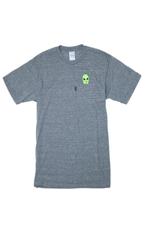 Rip N Dip Lord Alien Pocket Tee Grey Marle - Fuel Clothing