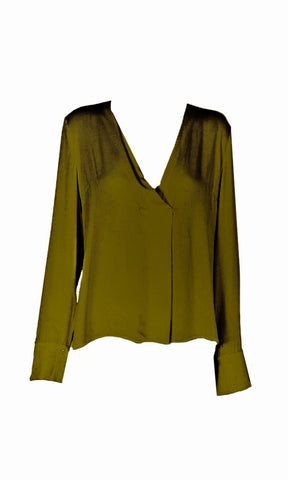 Minkpink V Neck Pleat Shirt - Fuel Clothing