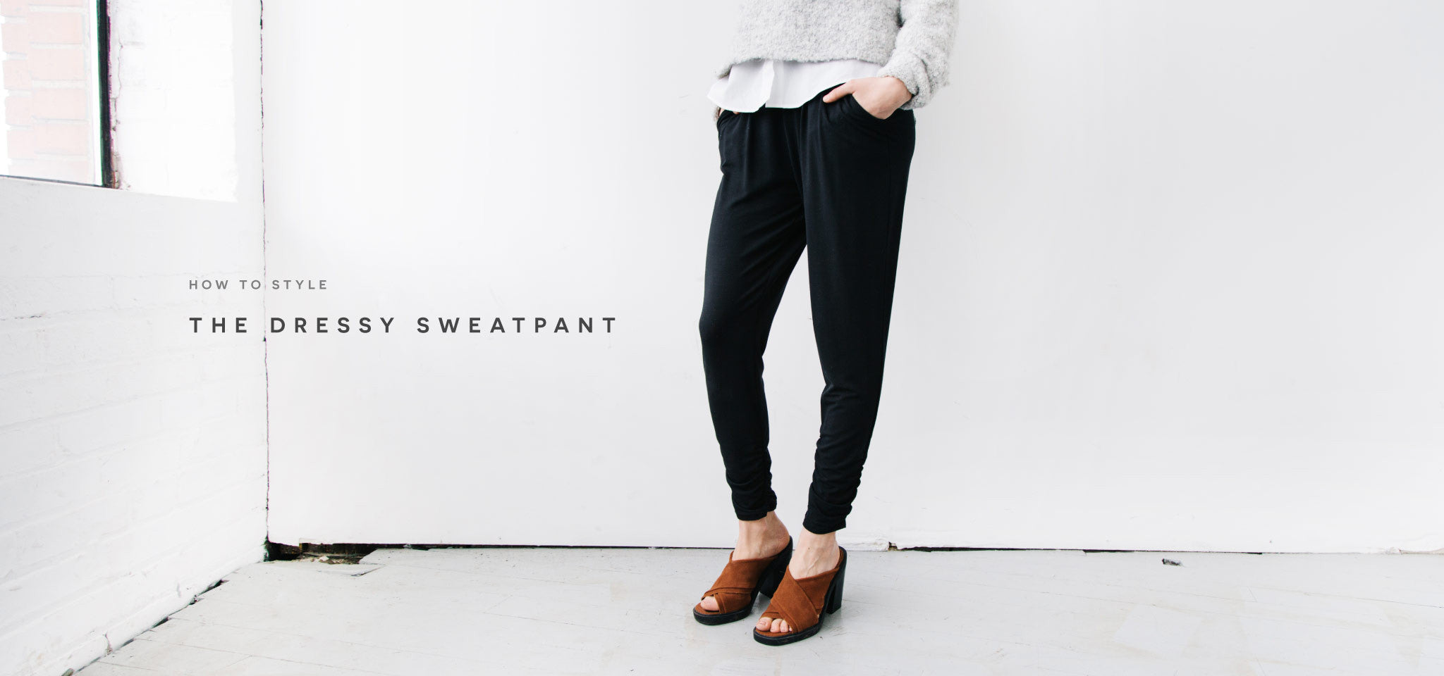 Minimalist Sweatpant for the Everyday Traveler. Ethically made in canada with sustainable and eco friendly materials.