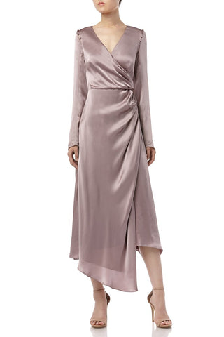 Iris Dress in Dusty Rose from Amur