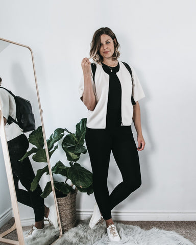 ethically-made high waisted black leggings