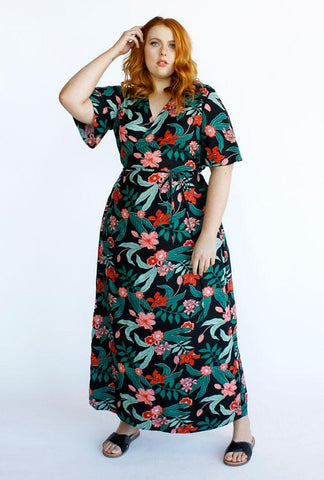 Hadley Maxi Wrap Dress in Jungle Print from Hope and Harvest